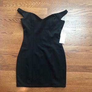 TOBI black off the shoulder dress